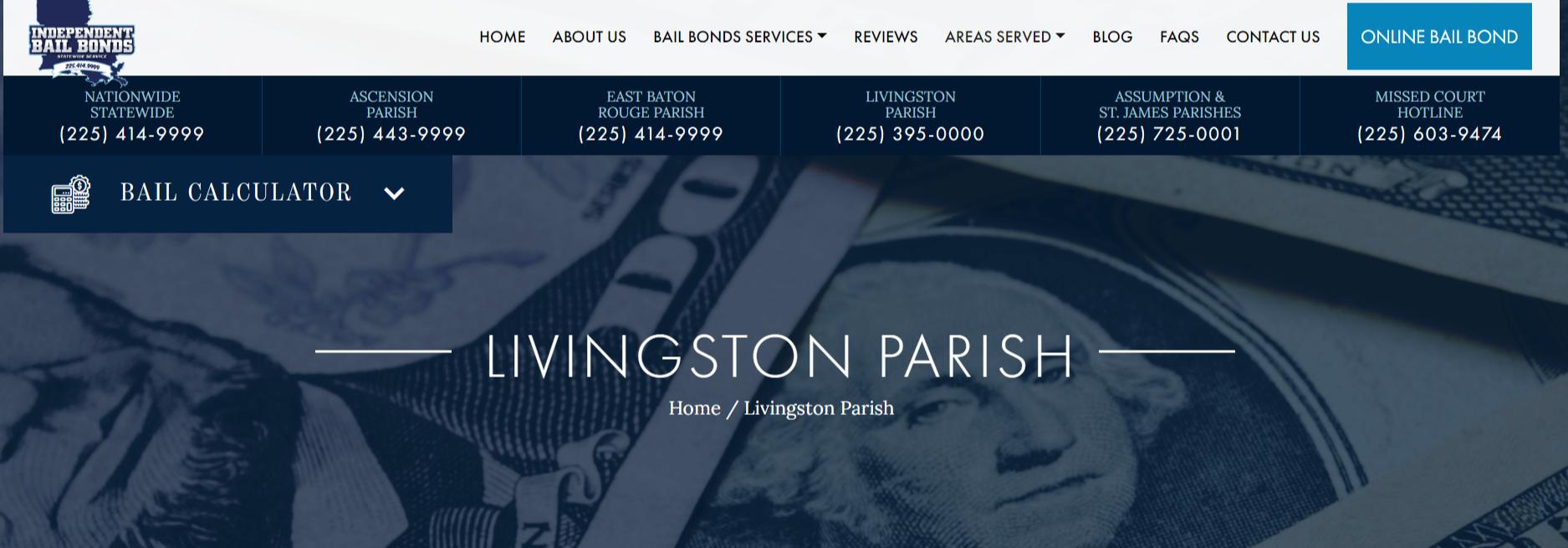 Bail Bonds Livingston Parish